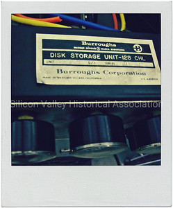 Burroughs Corporation Made in Westlake Village, California label