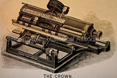 The Crown Type Writer by the National Meter Company circa 1888