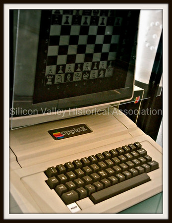 Apple II computer playing a chess game