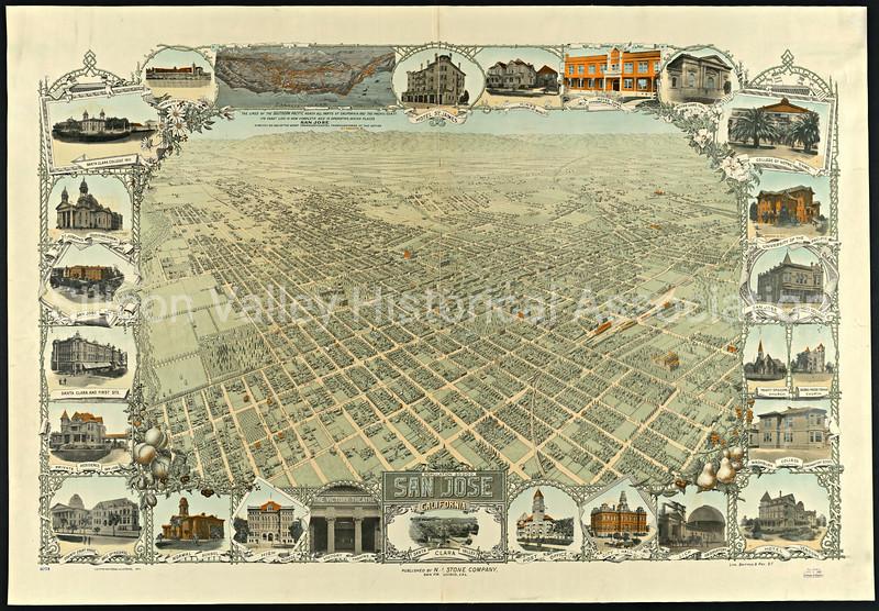San Jose, California Map from 1911