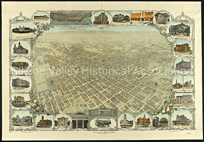 San Jose, California Map from 1911
