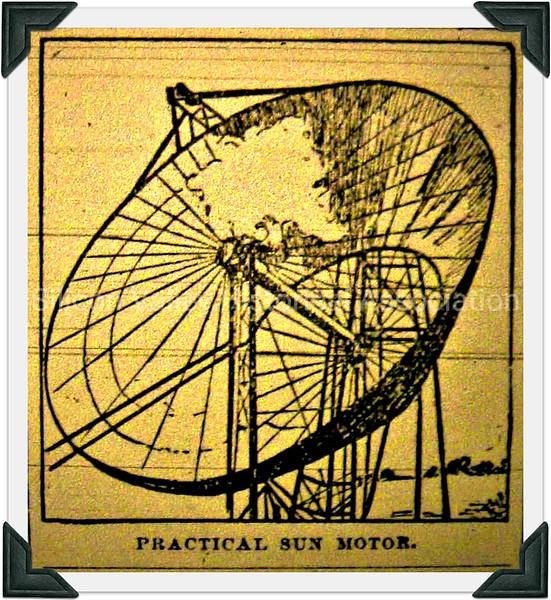 1870s Practical sun motor