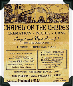 Oakland's Chapel of the Chimes 1948 Advertisement