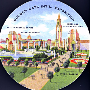 Sticker from the Golden Gate International Exposition in San Francisco