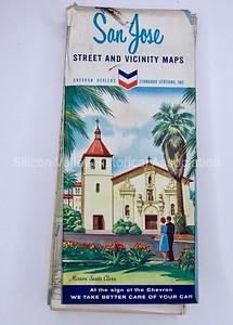 1964 San Jose Street and Vicinity Maps