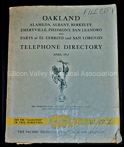 Oakland Telephone Directory from April 1952