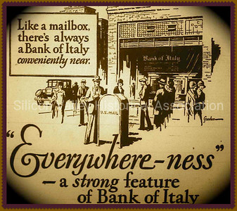 Everywhere-ness - a strong feature of Bank of Italy 1929 Advertisement