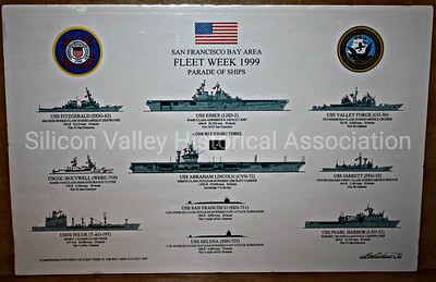 San Francisco Bay Area Fleet Week 1999 Parade of Ships poster