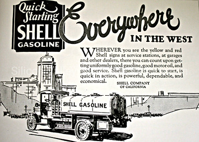 1925 Shell Company of California advertisement - Everywhere in the West