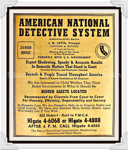 American National Detective System 1948 Advertisement