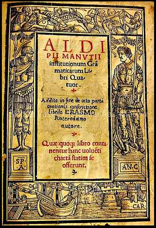 Title page from an Aldine Press book c. 1531