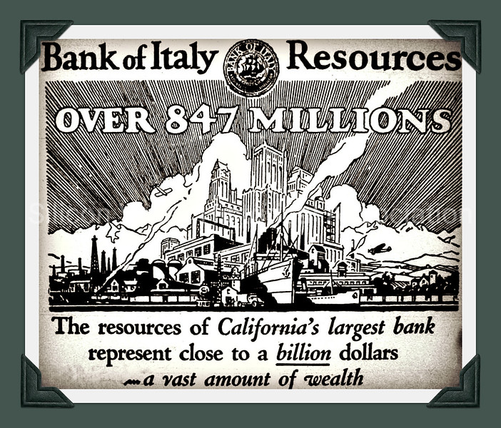 1929 Bank of Italy Advertisement from the Palo Alto Times Newspaper