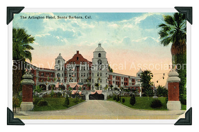 The Arlington Hotel in Santa Barbara, California postcard - circa 1918
