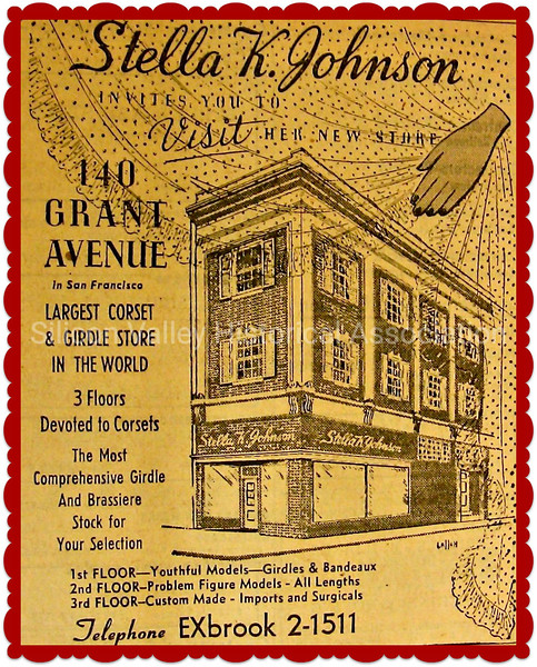 Stella K. Johnson - Largest Corset & Girdle Store in the World Oakland, California