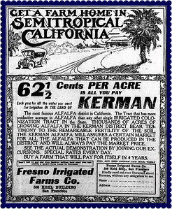 Get a Farm Home in Semitropical California 1913 Advertisement