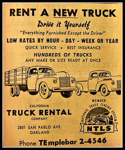 California Truck Rental Company in Oakland - 1948 Advertisement