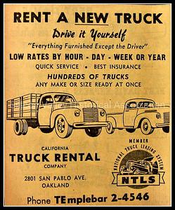 California Truck Rental Company in Oakland - 1948 Advertisement