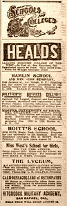 Bay Area (early Silicon Valley) Schools and Colleges in 1902