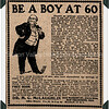 Be a Boy at 60 Dr. M.C. McLaughlin electricity belt advertisement from 190s