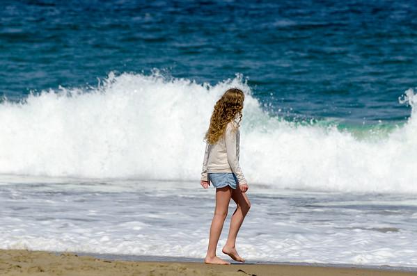 Strolling on Santa Cruz beach