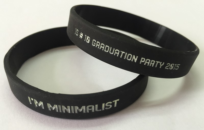 I'M MINIMALIST IS#10 Graduation Party 2015 ริสแบนด์