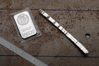 .999 silver - forged-out ounce