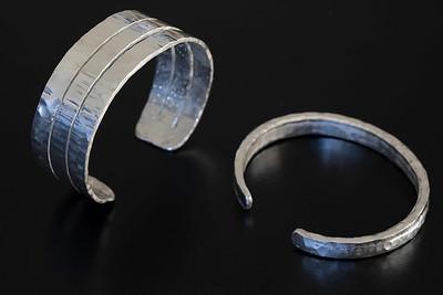 No.3 Silver 3-band cuff