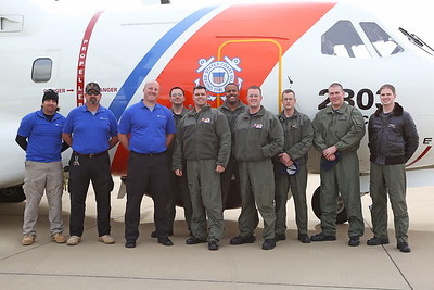 The Coast Guard visits Silver Comet Field