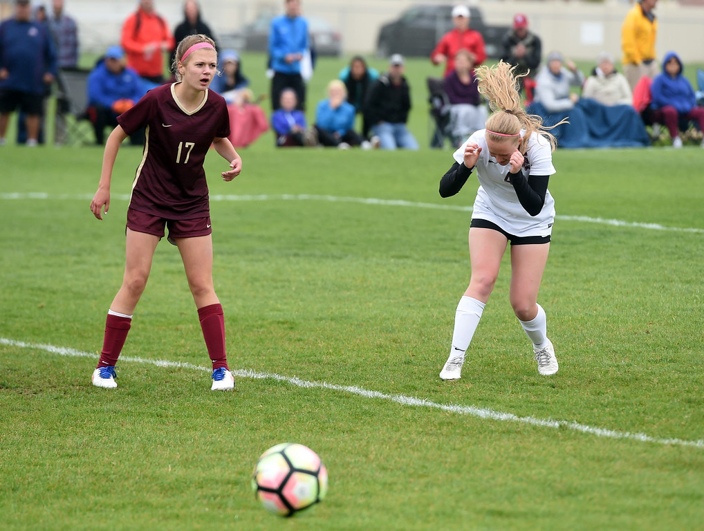 . Annalise Teasdale, of Silver Creek, wishes she had that shot back. Silver Creek beats Ponderosa 2-1 in overtime in Longmont on Saturday. For more photos, go to dailycamera.com.  Cliff Grassmick / Staff Photographer/ May 12, 2018