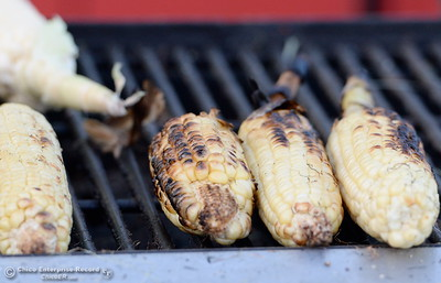 Corn on the cob is available at the Silver Dollar Fair in Chico, Calif. Friday May 27, 2016. (Bill Husa -- Enterprise-Record)