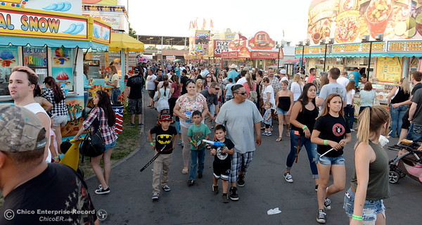 Food choices seem to be everywhere at the Silver Dollar Fair in Chico, Calif. Friday May 27, 2016. (Bill Husa -- Enterprise-Record)