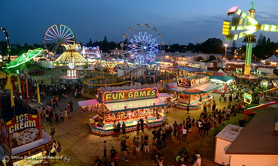 Screams of joy and the sound of laughter mix with music and rides at the Silver Dollar Fair in Chico, Calif. Friday May 27, 2016. (Bill Husa -- Enterprise-Record)