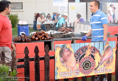 Bacon Wrapped turkey legs are available at the Silver Dollar Fair in Chico, Calif. Friday May 27, 2016. (Bill Husa -- Enterprise-Record)