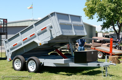 Some outstanding trailers are on display from the high school welding projects as things get underway at the Silver Dollar Fairgrounds in Chico, Calif. Wednesday May 25, 2016. (Bill Husa -- Enterprise-Record)