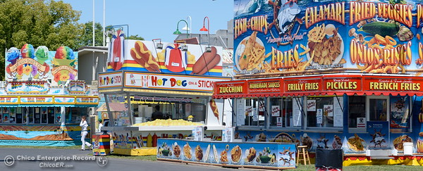 Food options galore will be ready for the Thursday opener as things get underway at the Silver Dollar Fairgrounds in Chico, Calif. Wednesday May 25, 2016. (Bill Husa -- Enterprise-Record)