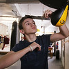 Silver Mittens boxers training at West End Gym. Jacob Lambert, 15, of Dracut, who will box at 126 lbs. (SUN/Julia Malakie)