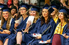 Graduating seniors listen to the Principal's address.