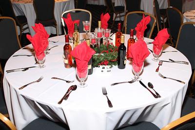 banquet room Christmas Setup