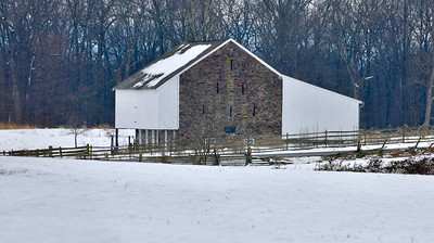 McPherson Barn in wimter