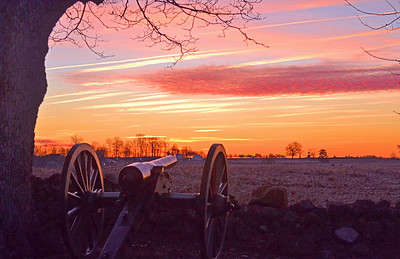 Cannon on a Battlefield