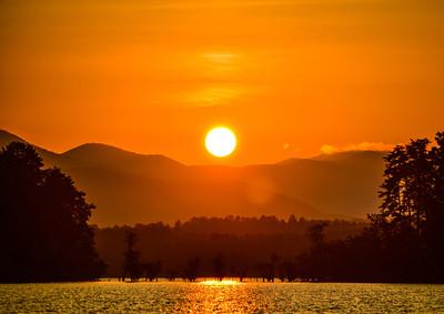 Sunrise over Chatuge Lake