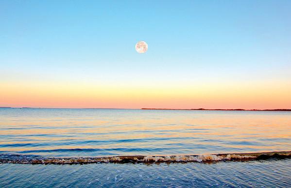 Moon Setting at Sunrise