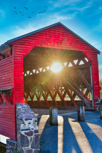 Sachs Covered Bridge - morning view