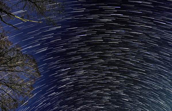 Star Trails with Comet Tails
