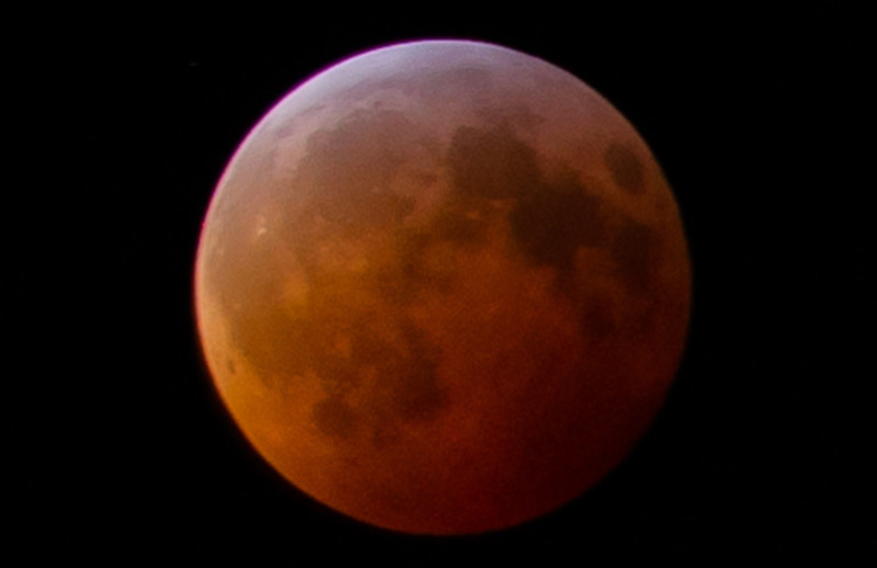 Total Eclipse with Red Moon