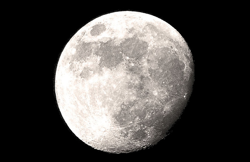 Waning Gibbous Moon at 92%