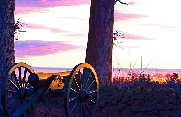 Cannon at Sunrise