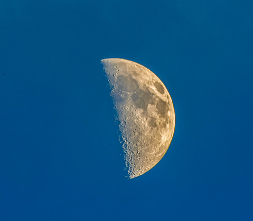 Mid-afternoon Moon