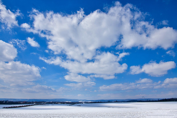Brilliant Skies over Snowy Landscape