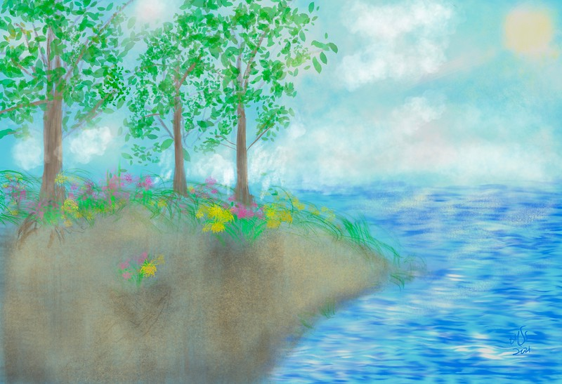 Misty Spring Morning by the Sea (2021)